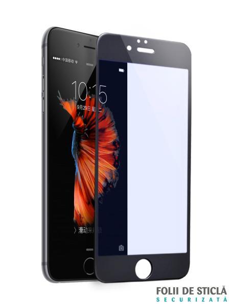 Folie ANTI BLUE-RAY curbată 5D din sticlă securizată pentru iPhone 7 Plus - NEGRU