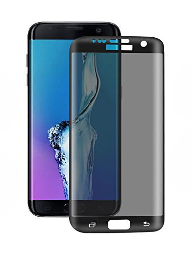 Folie PRIVACY curbată 3D din sticlă securizată pentru Samsung Galaxy S7 Edge (Full cover)