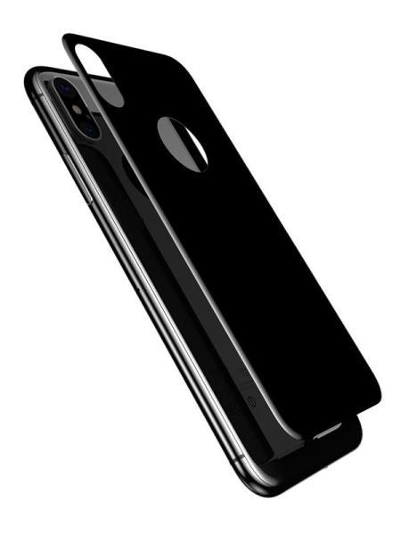 Folie 5D din sticlă securizată pentru iPhone X / XS - SPATE - NEGRU