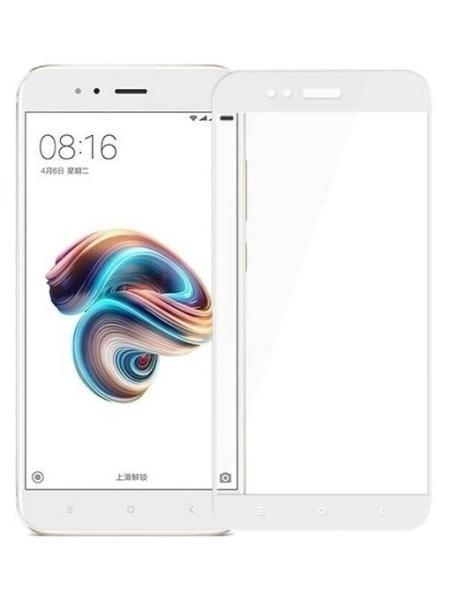 Folie ușor curbată 5D din sticlă securizată pentru Xiaomi Mi A1 ALB - Full glue