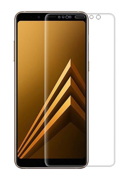 Folie curbată 3D din sticlă securizată pentru Samsung Galaxy A8+ (2018) TRANSPARENT (Full cover)