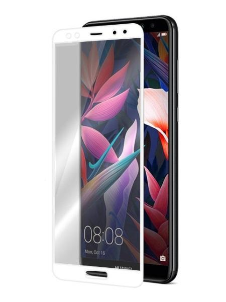Folie ușor curbată 5D din sticlă securizată pentru Huawei Mate 10 Lite ALB - Full glue
