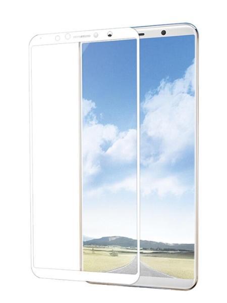 Folie ușor curbată 5D din sticlă securizată pentru Vivo X20 ALB - Full glue