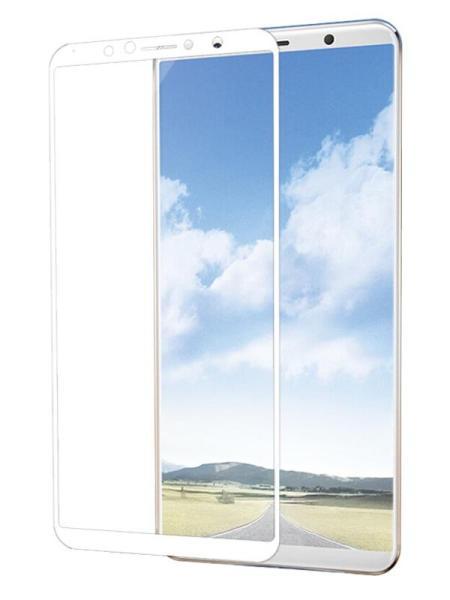 Folie ușor curbată 5D din sticlă securizată pentru Vivo X20 Plus ALB - Full glue