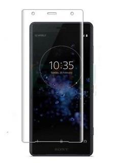 Folie curbată 3D din sticlă securizată pentru Sony Xperia XZ2 TRANSPARENT (full cover)