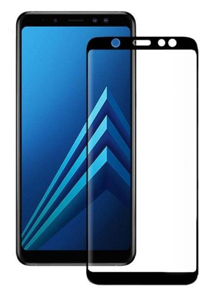 Folie curbată 5D din sticlă securizată pentru Samsung Galaxy A6+ (2018) NEGRU - Full glue