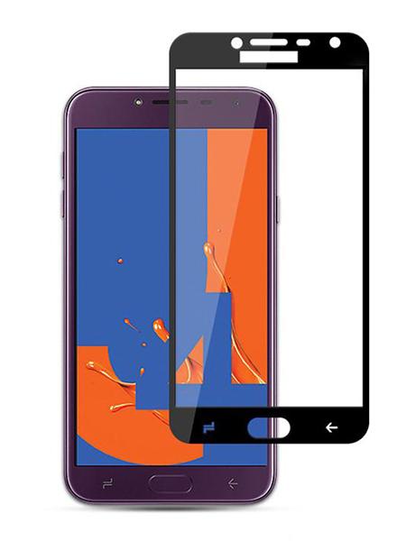 Folie ușor curbată 5D din sticlă securizată pentru Samsung Galaxy J4 (2018) NEGRU - Full glue