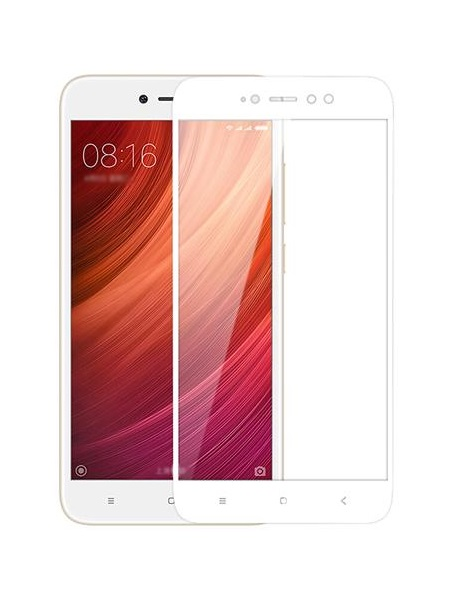 Folie ușor curbată 5D din sticlă securizată pentru Xiaomi Redmi Note 5A (Y1) ALB - Full glue