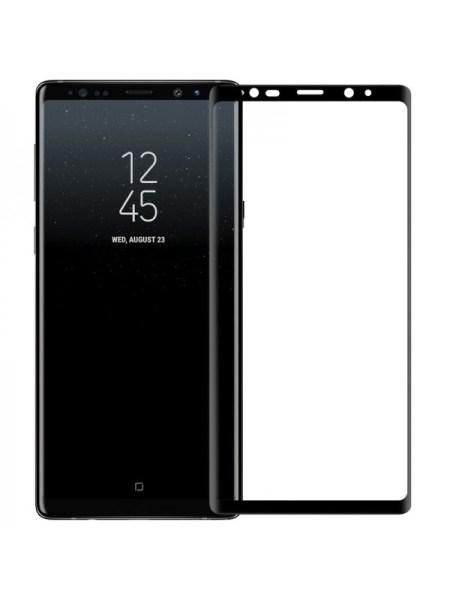 Folie curbată 3D din sticlă securizată pentru Samsung Galaxy Note 9 NEGRU - Full cover
