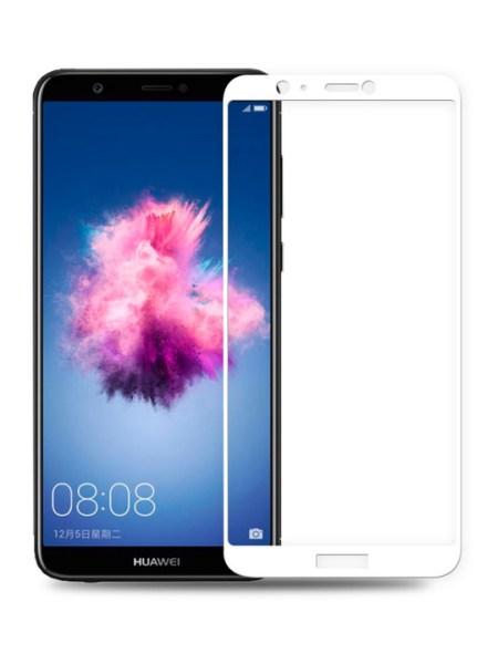 Folie ușor curbată 5D din sticlă securizată pentru Huawei P Smart ALB - Full glue