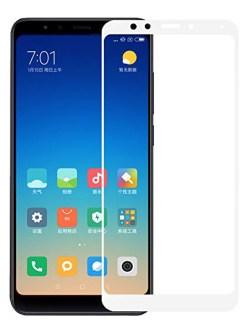 Folie ușor curbată 5D din sticlă securizată pentru Xiaomi Redmi 5 ALB - Full glue