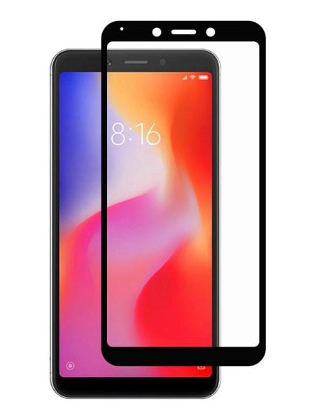 Folie Fullscreen 11D din sticla securizata pentru Xiaomi Redmi 6 / 6A NEGRU - FULL GLUE