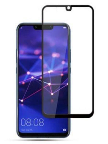 Folie curbată 5D din sticlă securizată pentru Huawei Mate 20 Lite NEGRU - Full glue