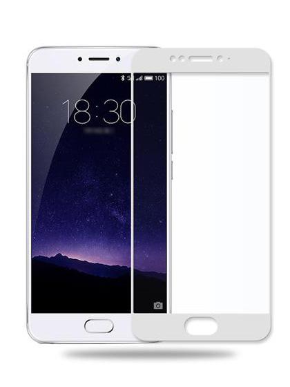 Folie Fullscreen 2.5D din sticla securizata pentru Meizu MX6 ALB