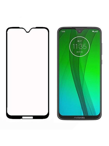 Folie Fullscreen 9D din sticla securizata pentru Motorola Moto G7 - FULL GLUE