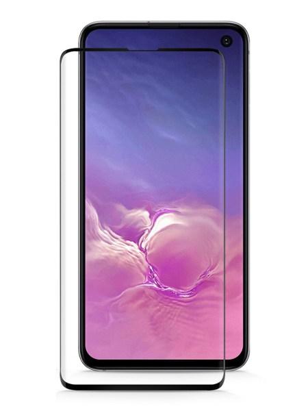 Folie ușor curbată 5D din sticlă securizată pentru Samsung Galaxy S10e NEGRU - Full glue
