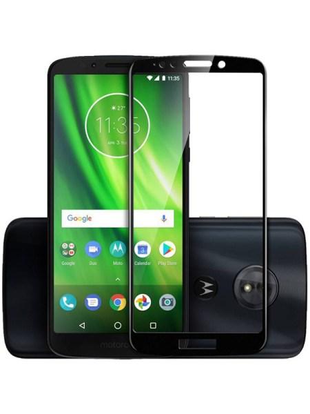 Folie Fullscreen 9D din sticla securizata pentru Motorola Moto E5 / G6 Play - FULL GLUE