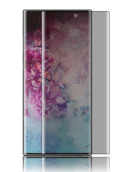 Folie PRIVACY curbată 3D din sticlă securizată pentru Samsung Galaxy Note10+