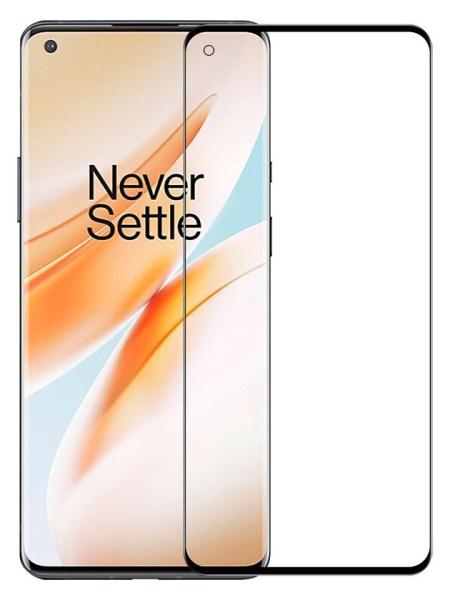 Folie curbată 3D din sticlă securizată pentru OnePlus 8 Pro NEGRU