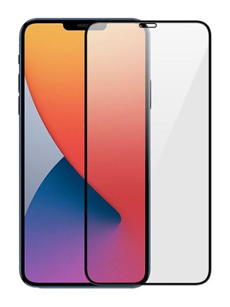 Folie Fullscreen 9D din sticlă securizată pentru iPhone 12 Pro Max - NEGRU - Full glue