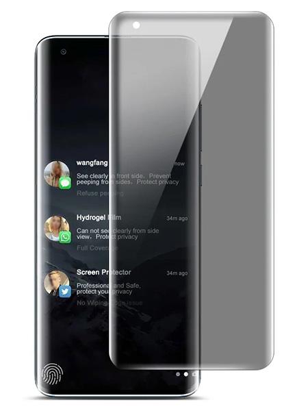Folie PRIVACY curbată 3D din sticlă securizată pentru Xiaomi Mi 10 / 10 Pro