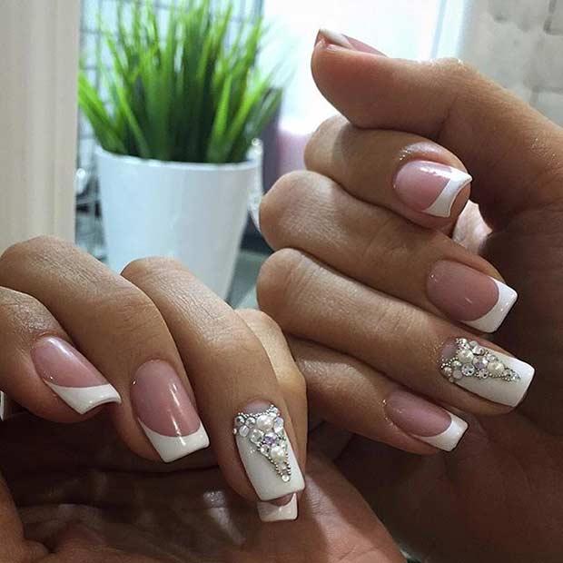 7 Elegant Wedding Manicure Idea