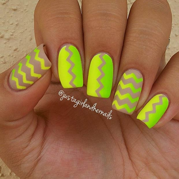 30 Neon Lime Green Nails