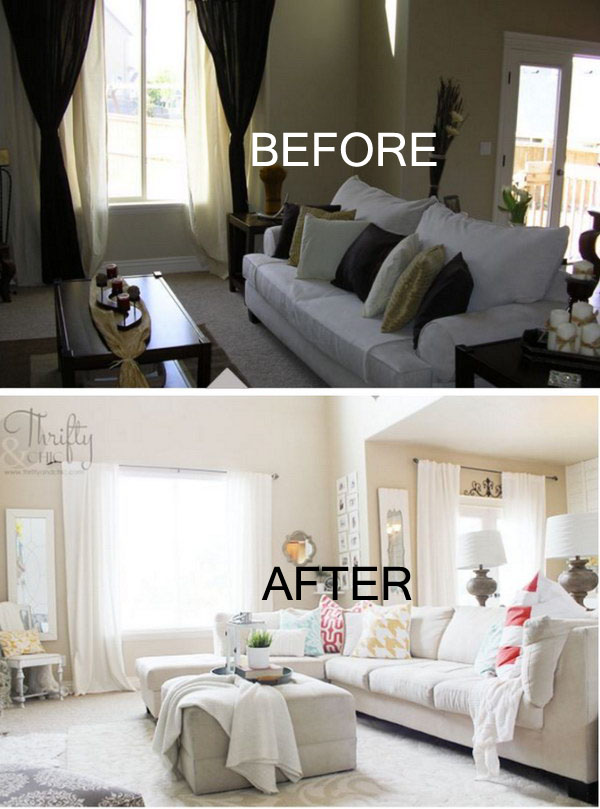 17 Awesome Before And After Living Room Makeovers Page 3 Foliver Blog