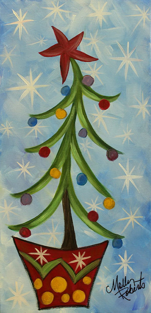 25 Amazing Canvas Painting Ideas For Christmas Page 25