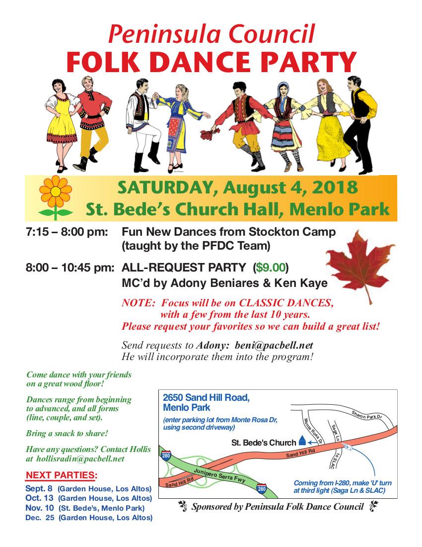 August Peninsula Folk Dance Party - Folk Dance Federation