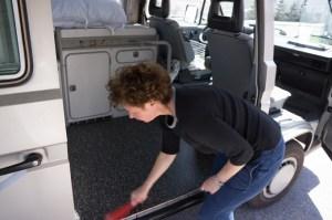julie-sweeps-up