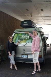 John-and-Chantal-with-van