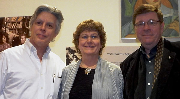 Peter Pickow (right), son of Jean Ritchie and George Pickow, with David Massengill and Susan Trump