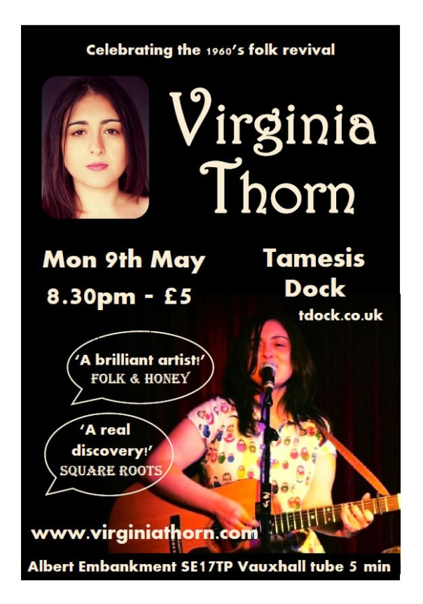 Virginia Thorn Gig Poster