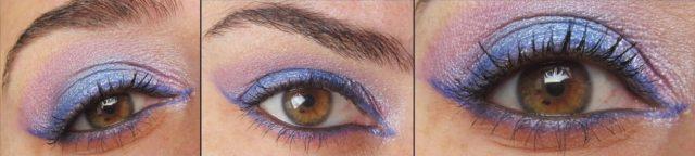 trucco viola occhi marroni