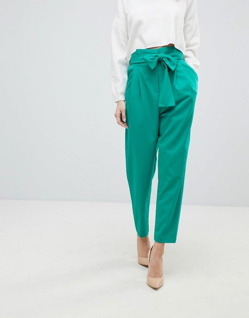 pantalone-vita-alta-cintura-fiocco-verde