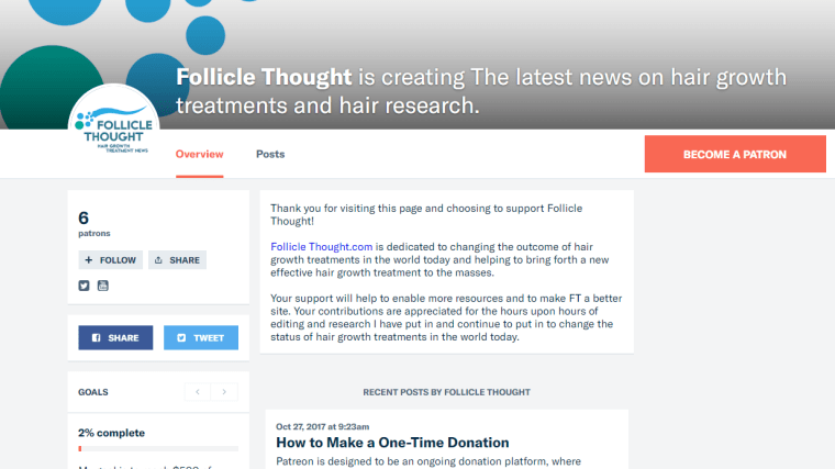 Updates – Cures for Hair Loss 2018 – Follicle Thought