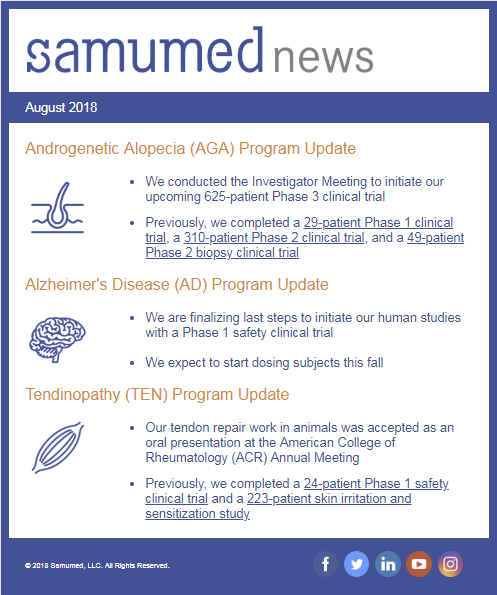 Samumed's Moving Into Phase 3 – Follicle Thought