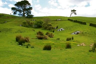 Unterirdische Hobbit Häuser in Matamata