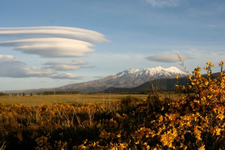 Mount Ruapehu in Neuseeland