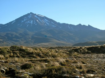 Mount Ruapehu in Neuseeland