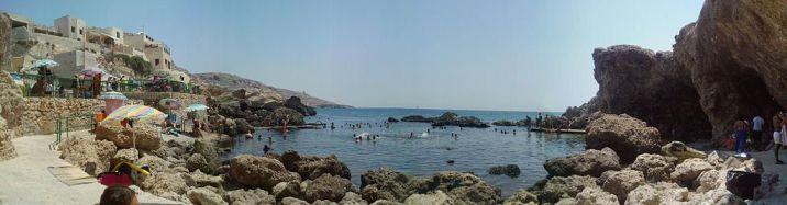 Die Ghar Lapsi Bucht auf Malta