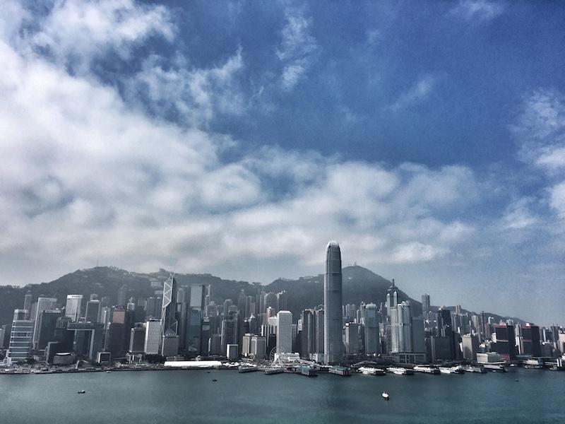 skyline hongkong island