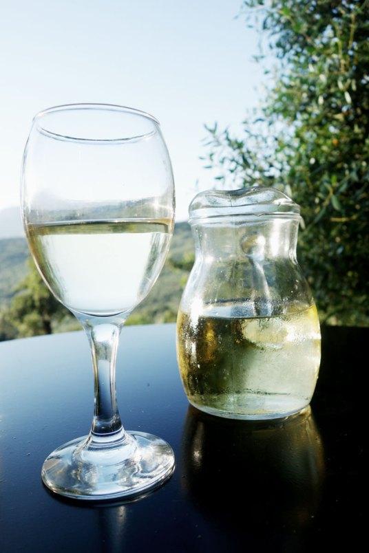 Weinglas-Karaffe-Enagron-Kreta