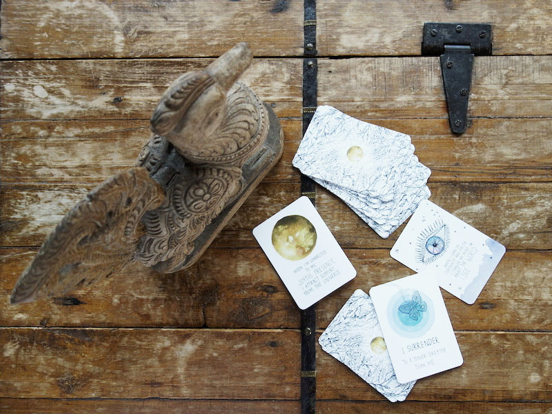 Holztruhe-Kartendeck