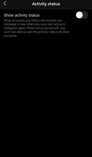 Instagram activity status