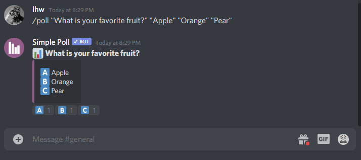 How to make a poll on Discord using Simple Poll