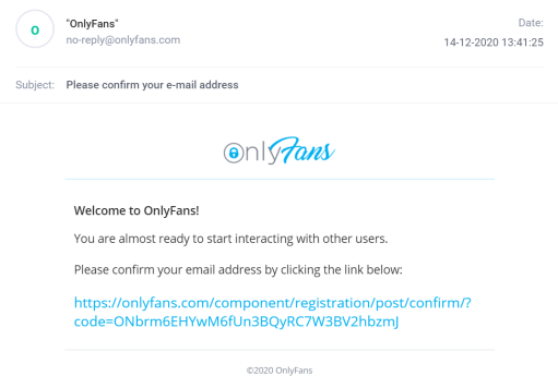 OnlyFans confirm email address