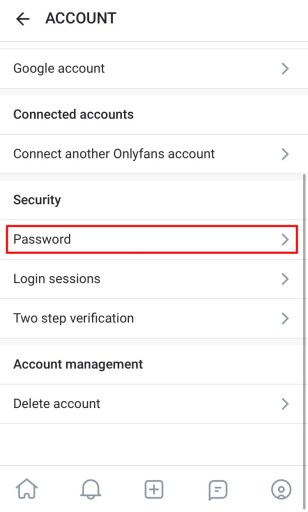 OnlyFans password