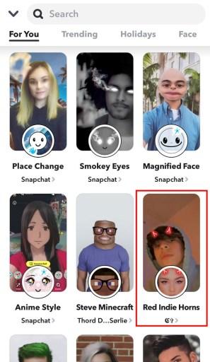 Snapchat filters